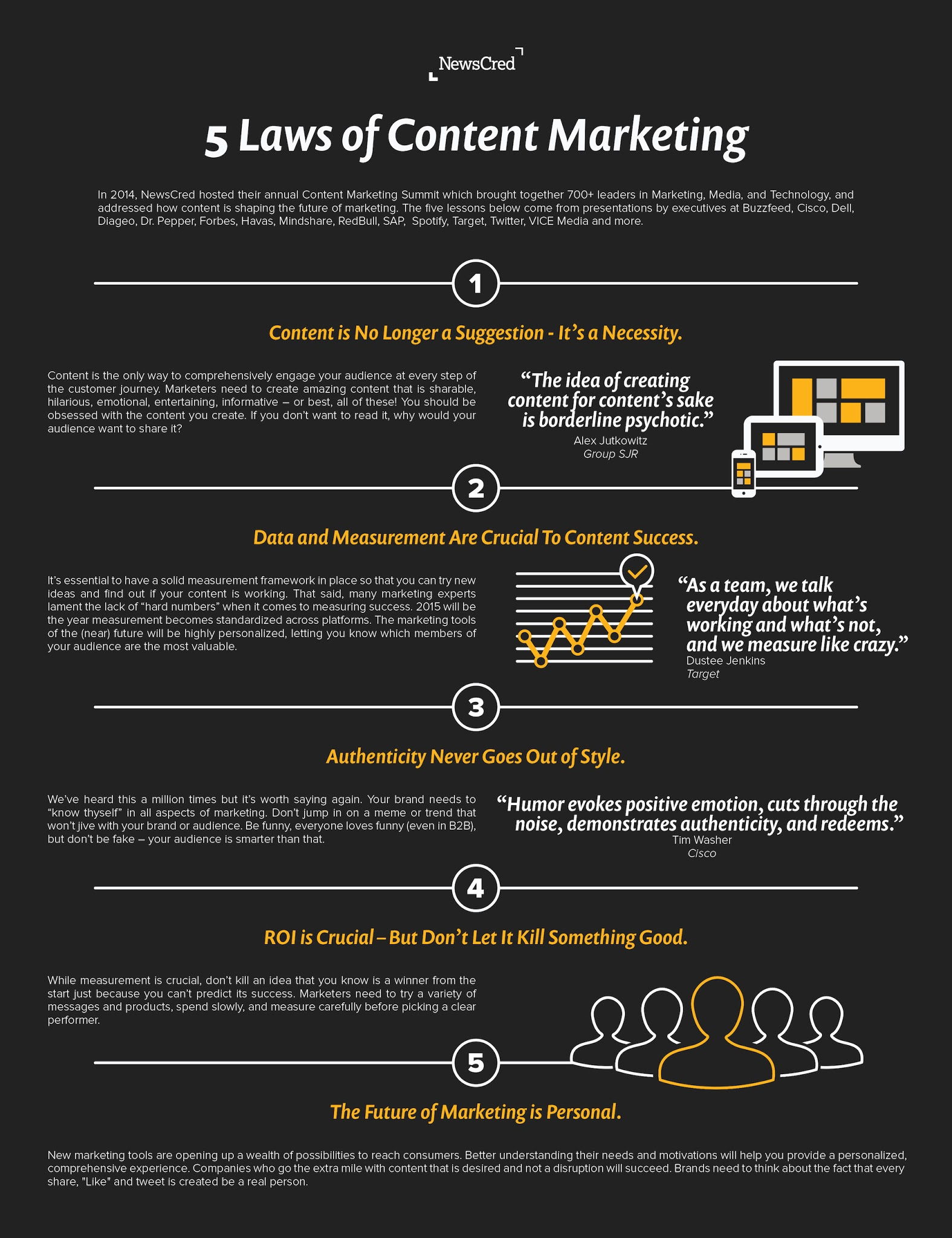The 5 Laws Of Content Marketing - #Infographic #ContentMarketing
