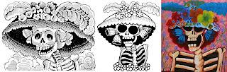 katrina-jose guadalupe posadas-grabados-mexico-esqueletos