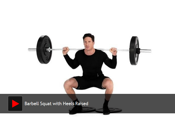 Barbell Squat with Heels Raised