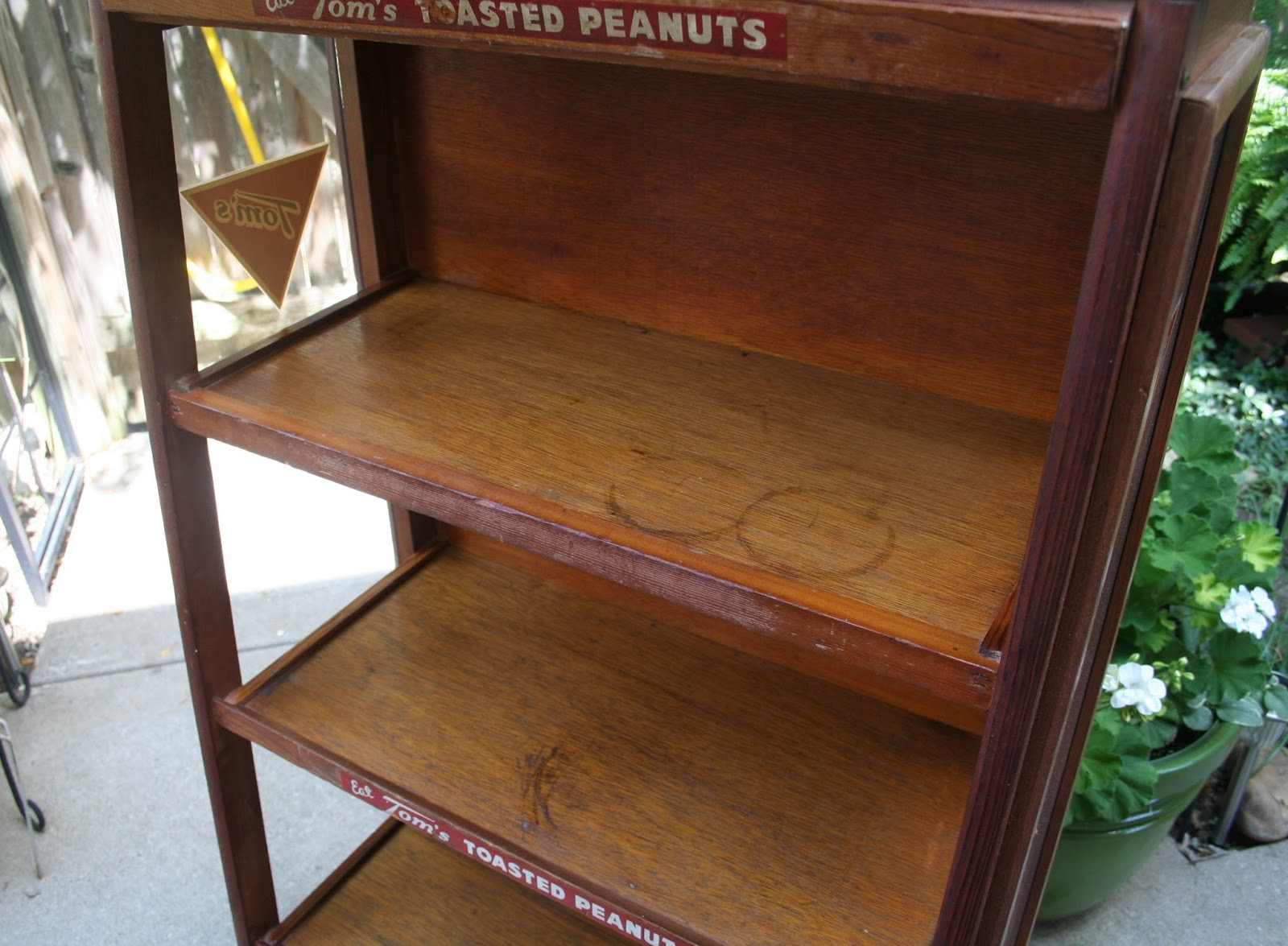 Antique Candy Display Cabinet