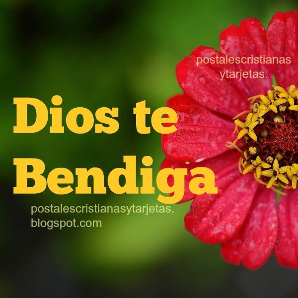 Dios te bendiga Tarjeta Bonita para Amigos del Facebook