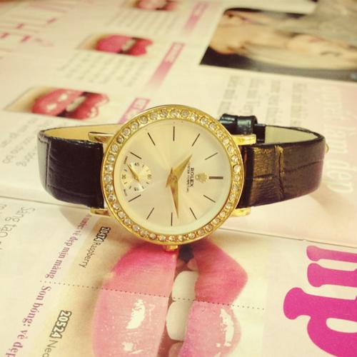 Đồng hồ rolex nữ dây da giá rẻ dưới 500 nghìn tại Cầu Giấy