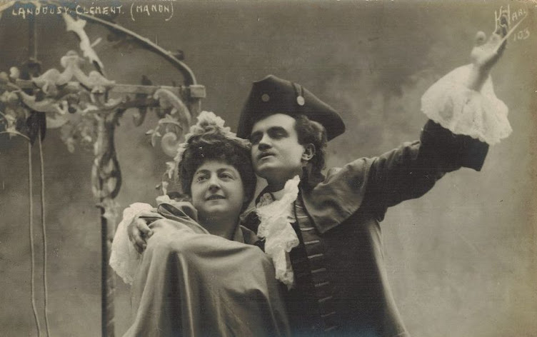 Lise Landouzy and Edmond Clement Manon (Jules Massenet)