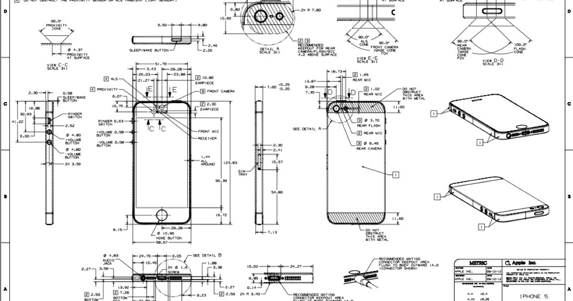 mobile tecno  iphone 5 full detailed schematic diagram