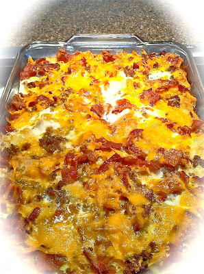 Maple, Sausage, Bacon, and Waffle Casserole (with a gluten free option ...