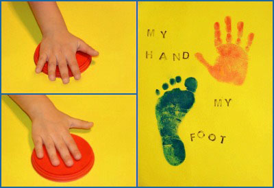 Handprint Me Book Craft