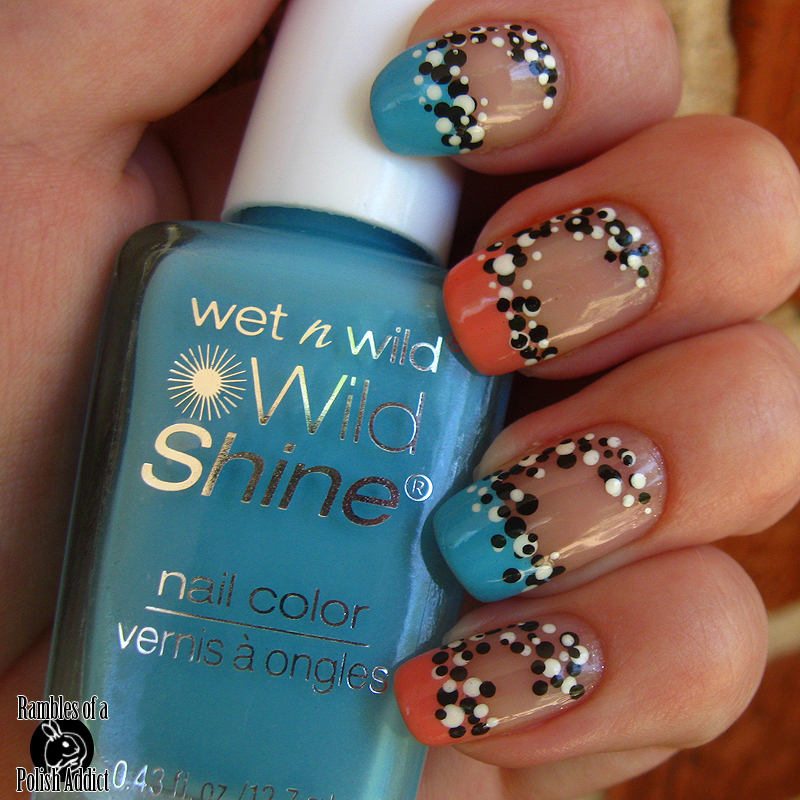 Wild French Tip Nail Designs: Funky French Tip With Retro(?) Dots!