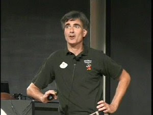 Randy Pausch lecturing the Last Lecture