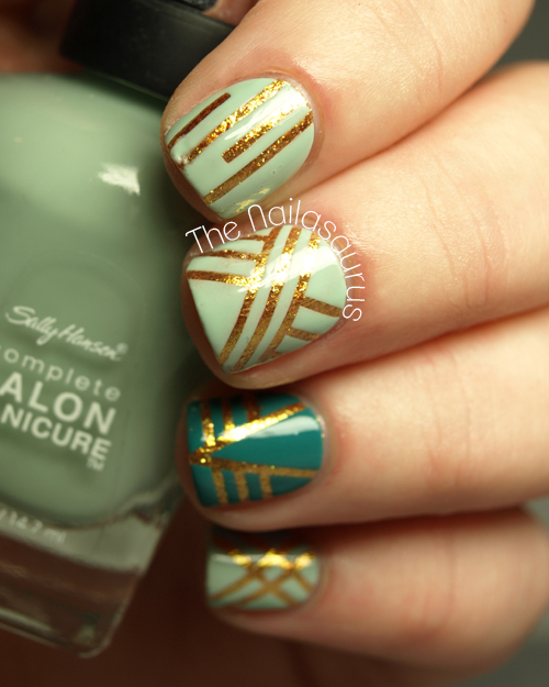 Patterns Using Tape Nail Art: 15 Nail Tape Manicures