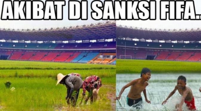 Kumpulan Meme Lucu Akibat Sanksi FIFA ke PSSI