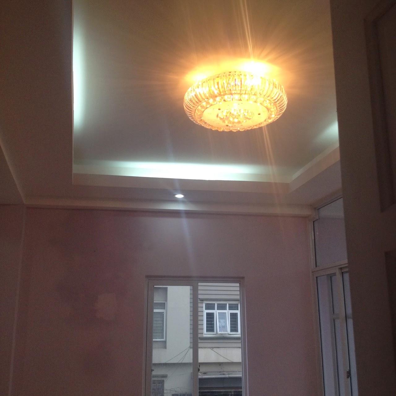 Hệ thống đèn trang trí trong căn hộ chung cư Hồ Ba Mẫu