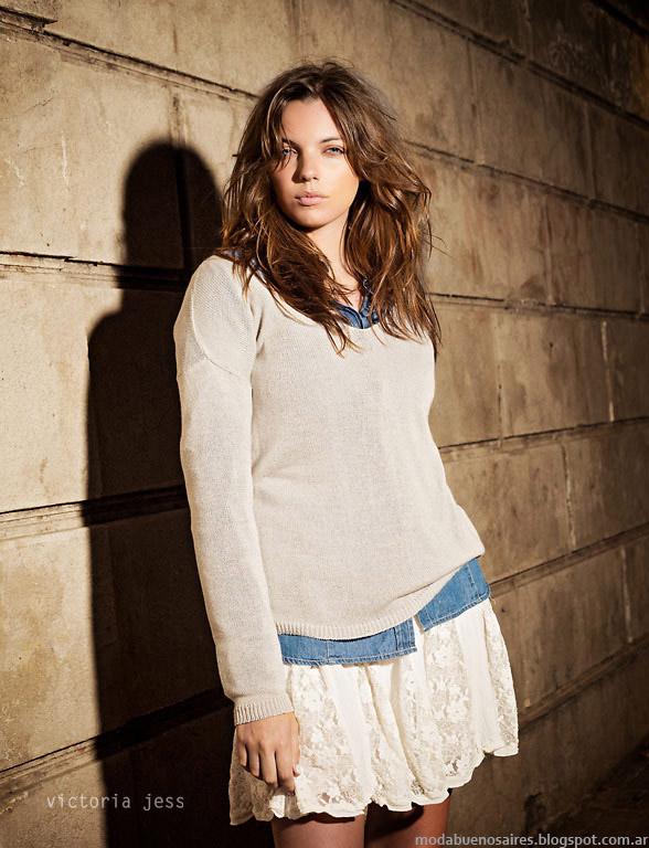 Victoria Jess sweaters tejidos otoño invierno 2015. Moda otoño invierno 2015.