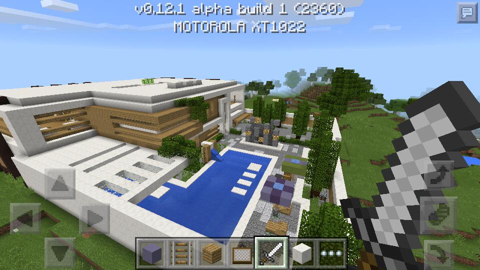 Mapa casa moderna equipe mcpe for Casas modernas grandes minecraft