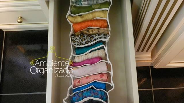 Colmeia organizadora de lenços
