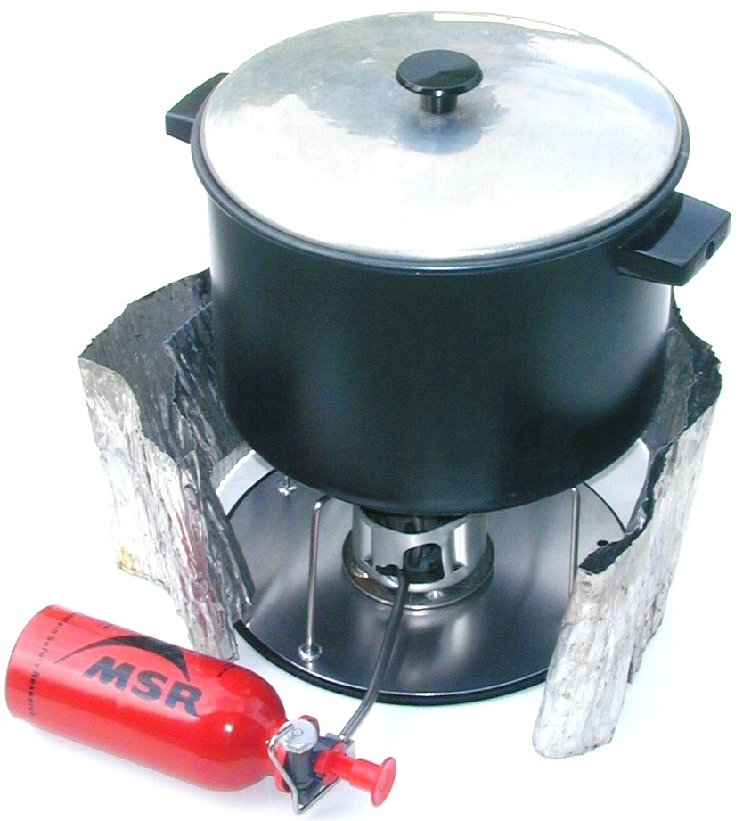 Cooker For Snowmobile ~ Joealpinist stove bases for cooking on snow
