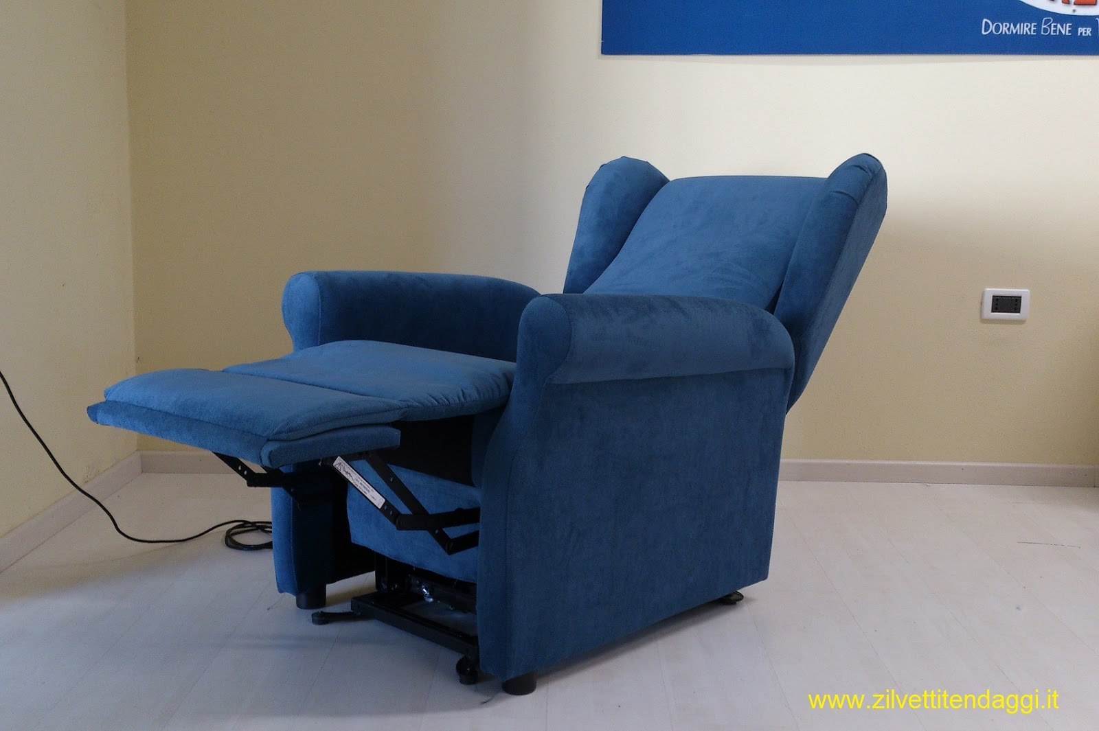 poltrona inclinabile tessuto eko 1 l ~ divani e poltrone ebay - Poltrona Relax Motorizzata Balance