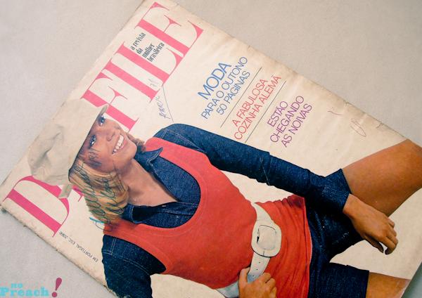 Desfile: capa revista de moda antiga - anos 70