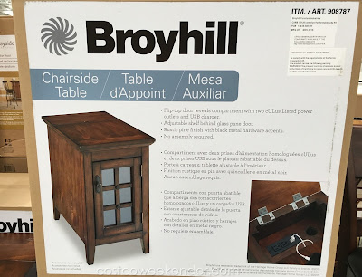 Broyhill Chairside Table: classic, rustic, and antique-looking