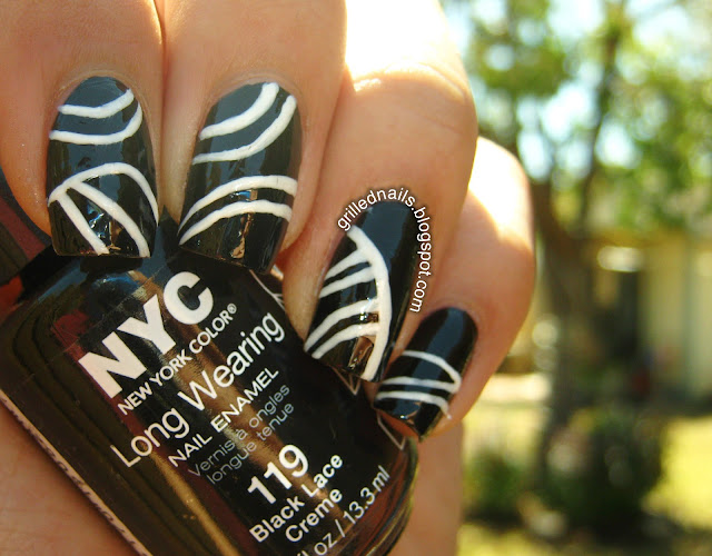 New York Color nail art stripes nailartmar march 2013 challenge californails grillednails grilled nails hector alfaro