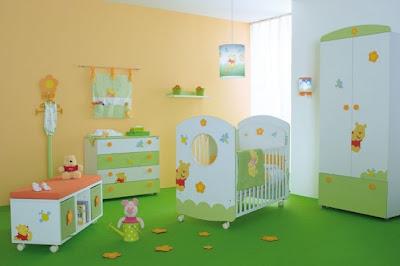 Dormitorio colores bebe