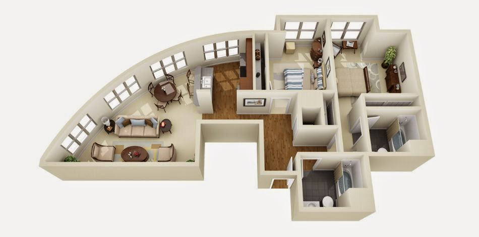 3D Home Layouts .... Get A Visual Idea Of Your Dream Home.