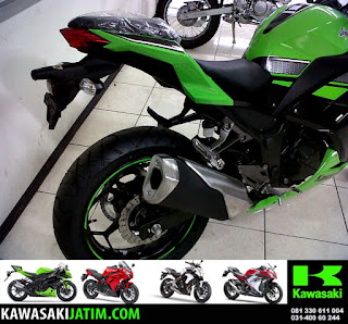 Ninja 250FI SE Exhaust Lime Green