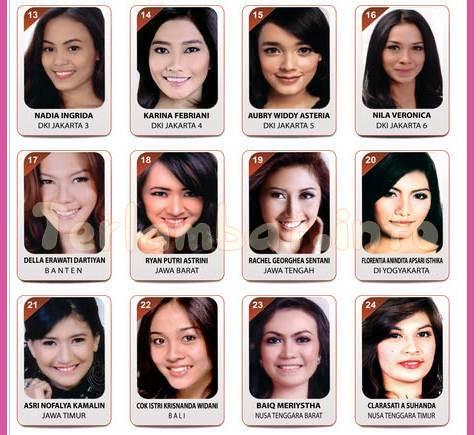 Daftar Puteri Indonesia 2013
