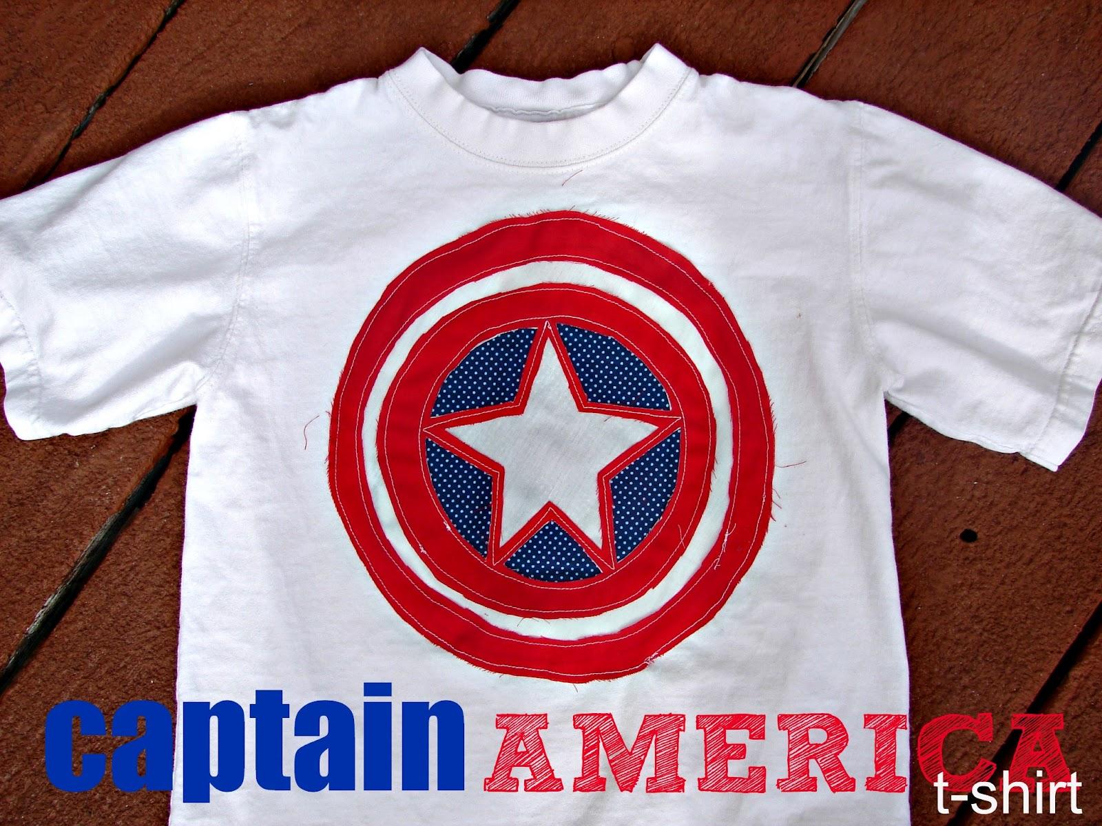 captain america shirt... - A girl and a glue gun