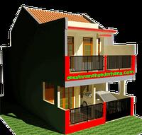 Gambar 3D Redesain Rumah KPR Type 21/72 -03