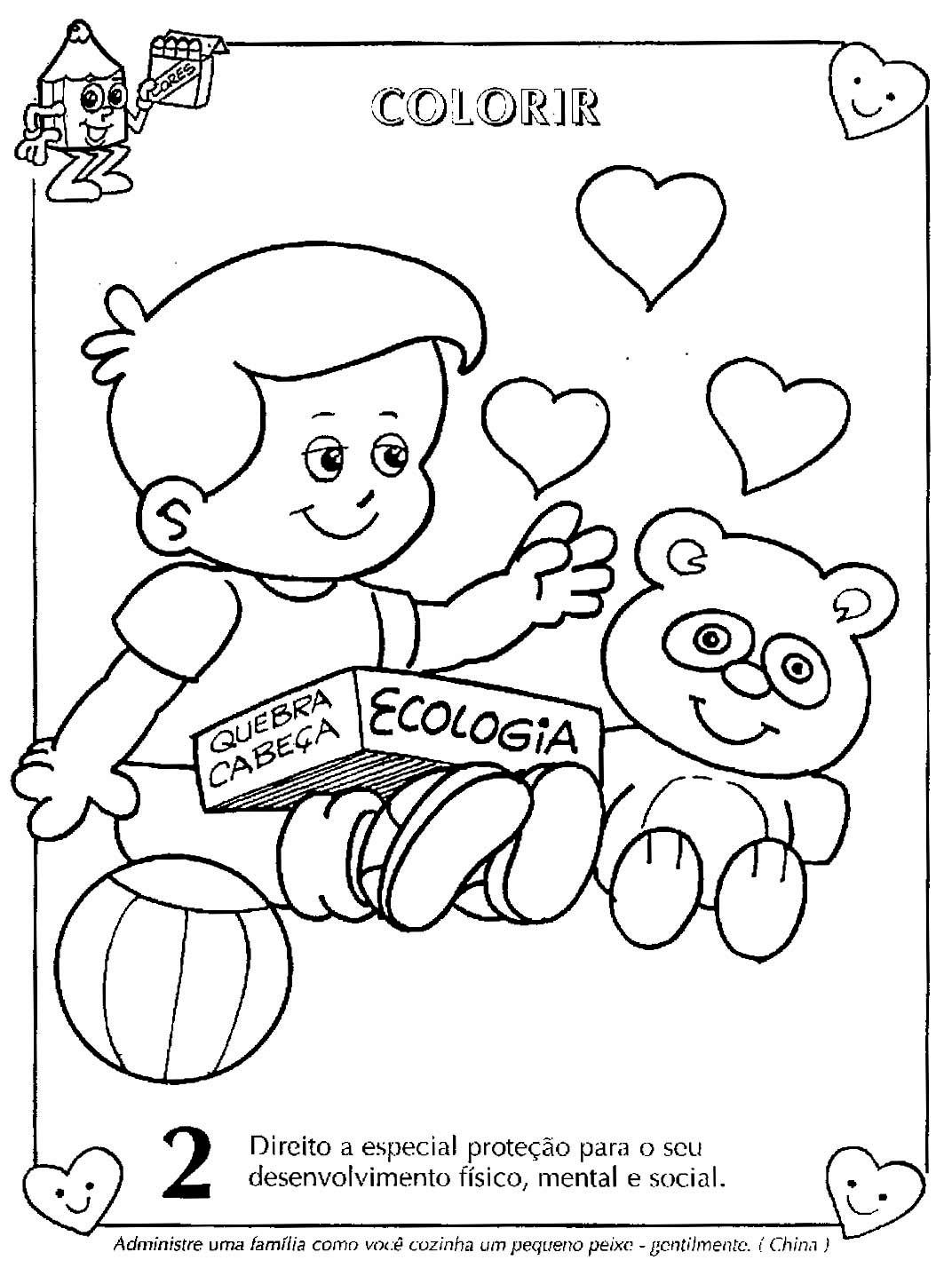 Portal Da Atividade Direitos Da Crian A ~ Desenhos Para Colorir Cozinha