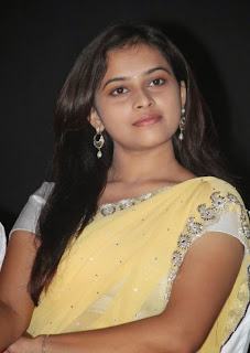 Sri Divya in a saree