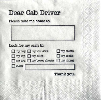 cab napkin
