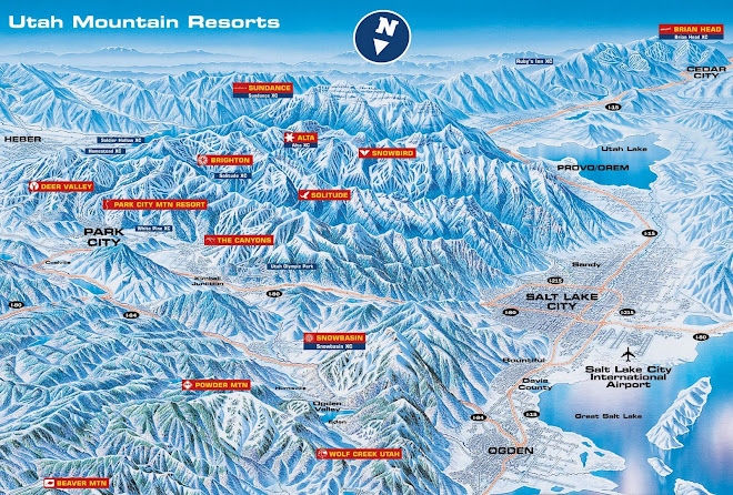Ski resorts in Utah- http://www.skiutah.com/winter/resorts