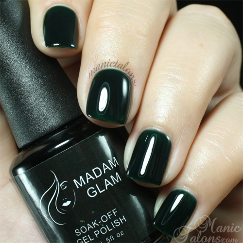 Madam Glam Gel Polish #161 Deep Emerald Swatch