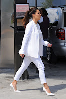 Kim Kardashian dressed all in white