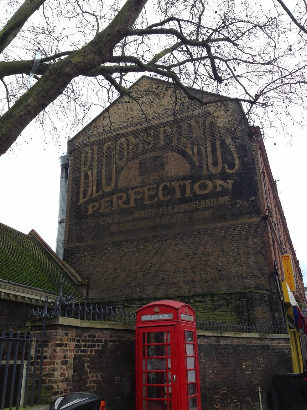 Ghost sign, Shoreditch, London