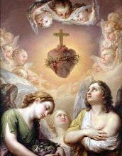 Sagrado Coração de Jesus, encanto dos Anjos, fonte de Sabedoria e Amor, tende piedade de nós!