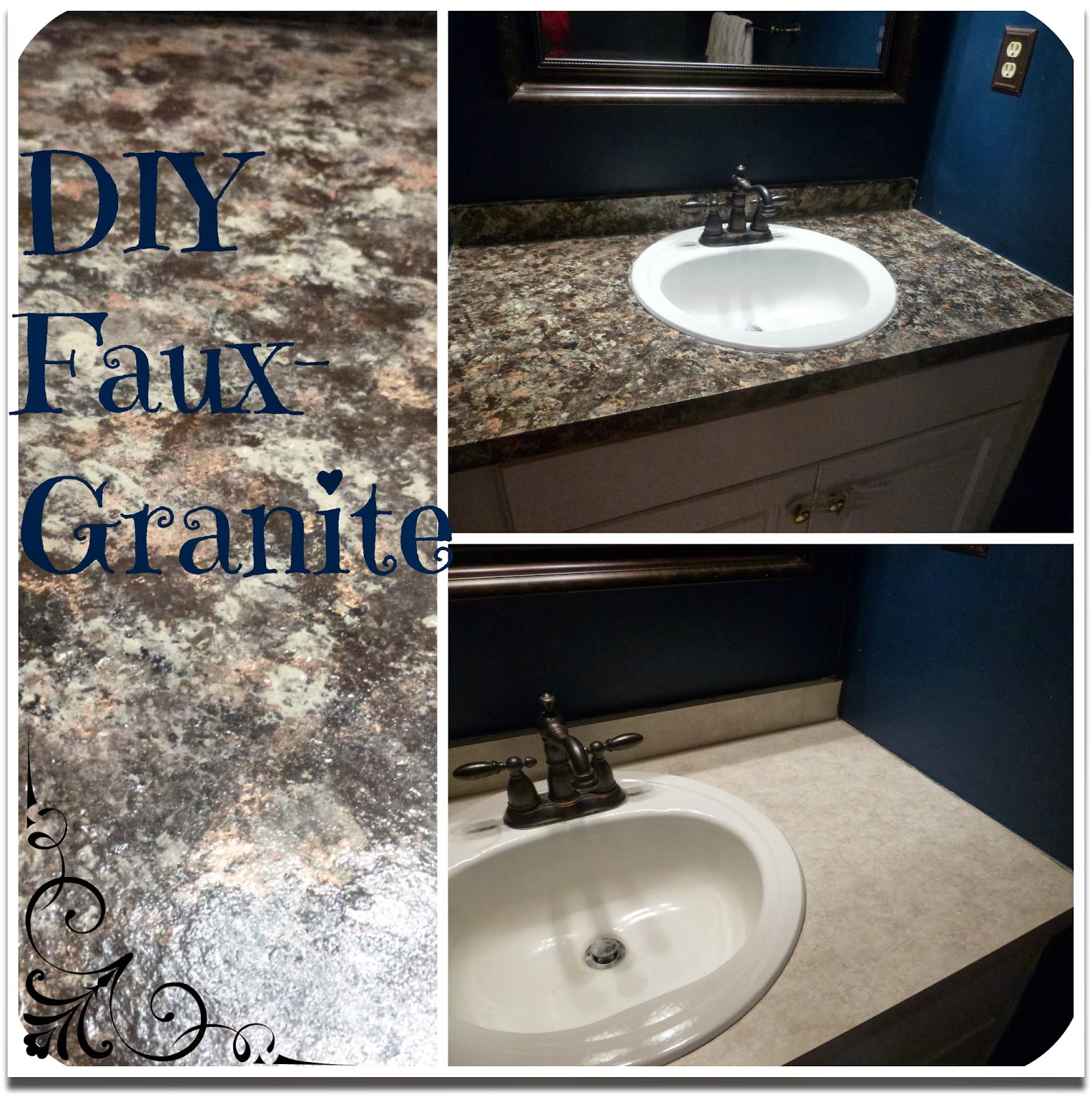 Bathroom Makeover Granite kestutis: mini bathroom makeover- part iii (faux granite countertops)