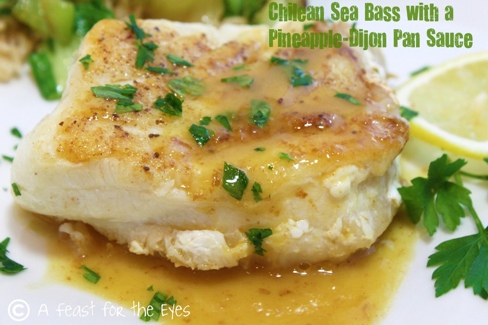 A feast for the eyes chilean sea bass with a pineapple for Turkish sea bass recipe