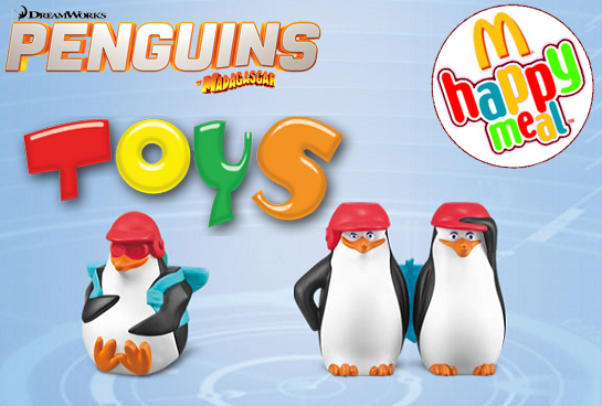 Penguins of Madagascar Toys from Mc Donald Happy Meal