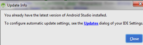 Update Info Android Studio versi terbaru
