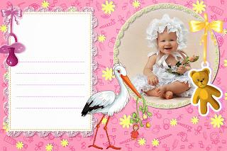 Convite grátis photoshop - baby shower