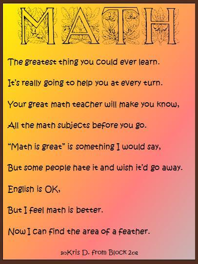 Weekly Class Summary Apr 11 15 on Math Mats