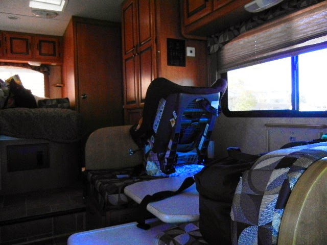 Car seat in motorhome