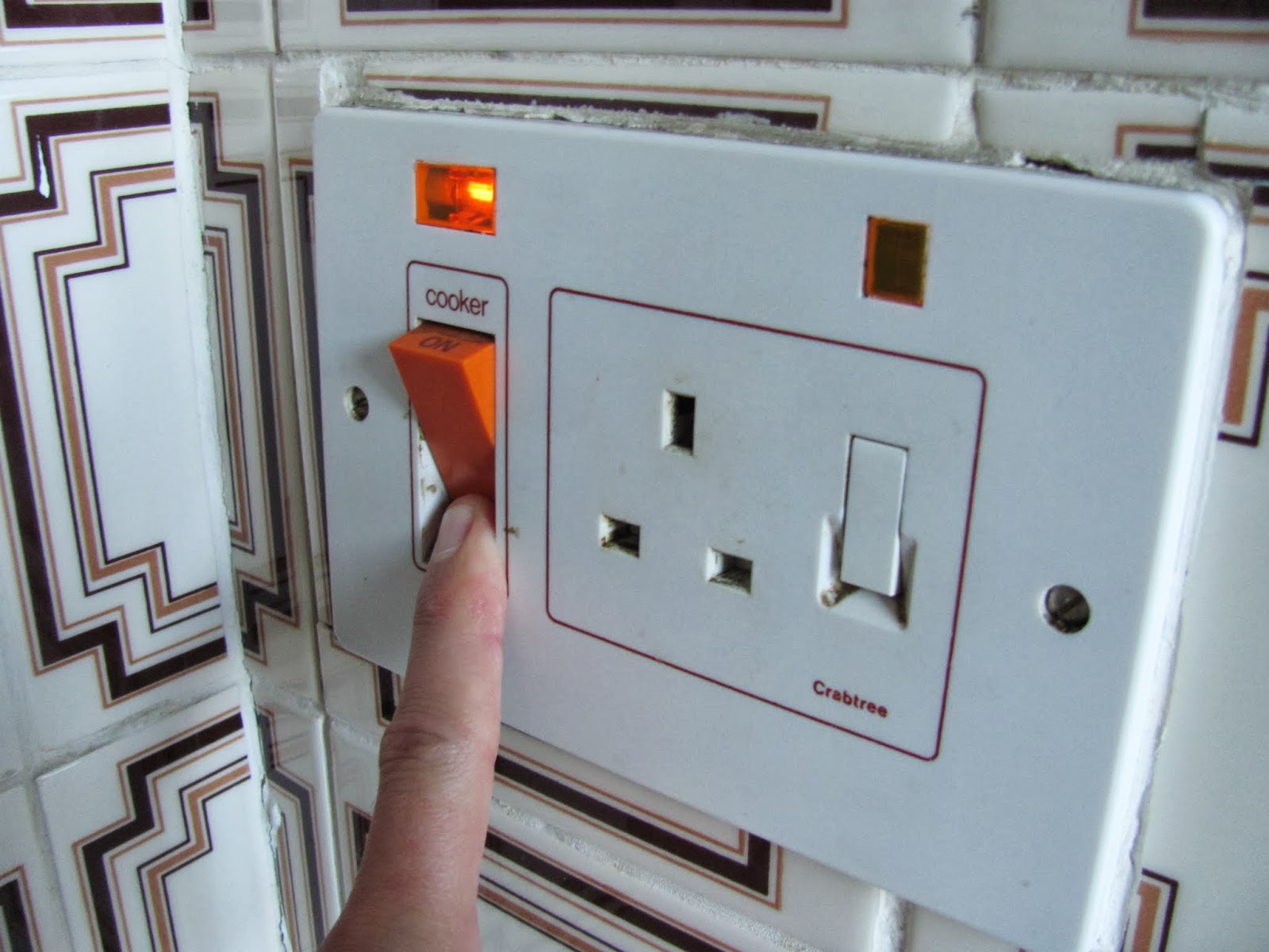 The oven is activated by a special switch on the power wall socket in Dublin, Ireland