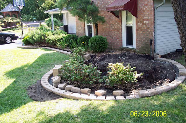 Brick driveway image brick edging for Brick edging for your flower beds