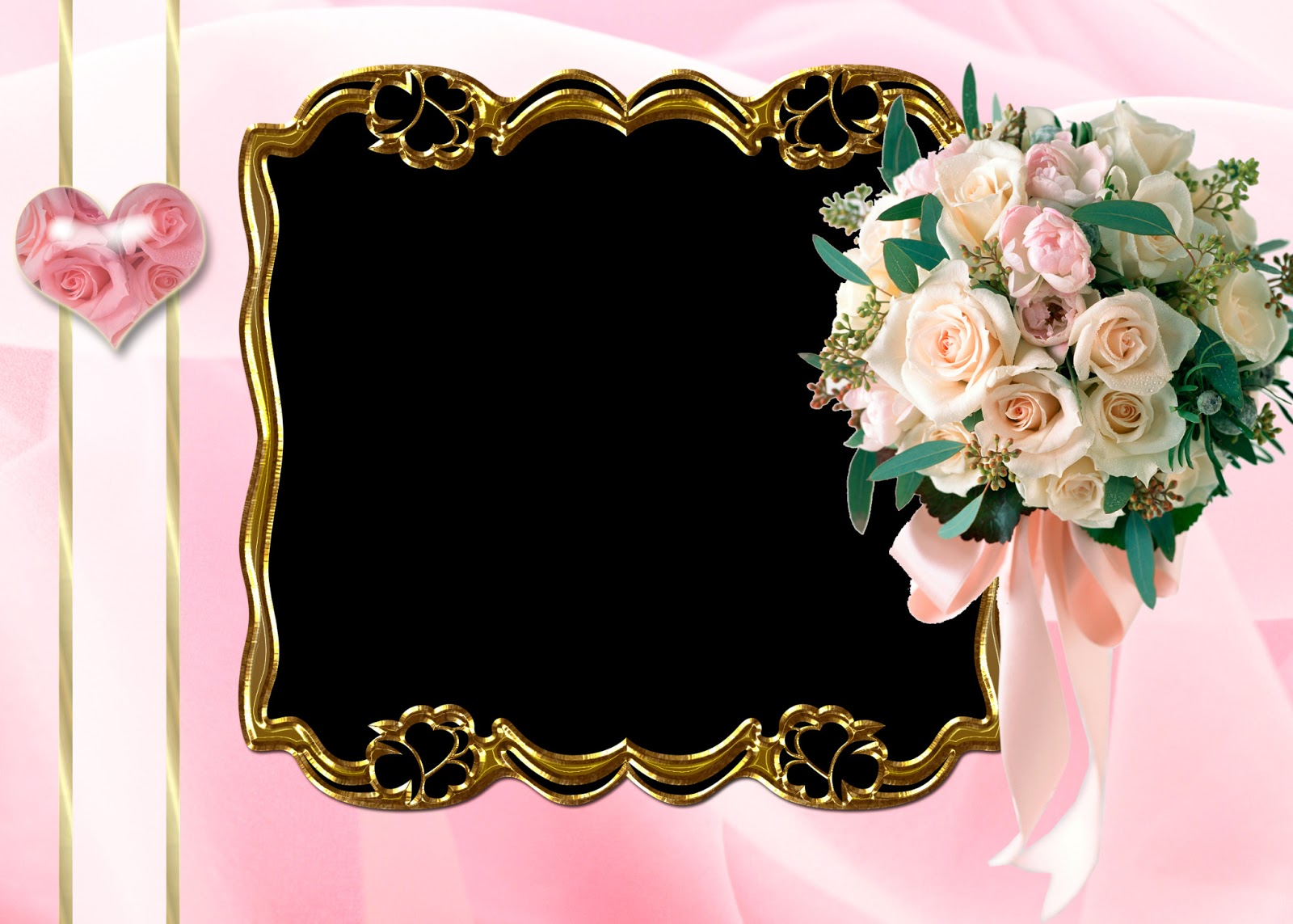 5 frames png flores photoshop