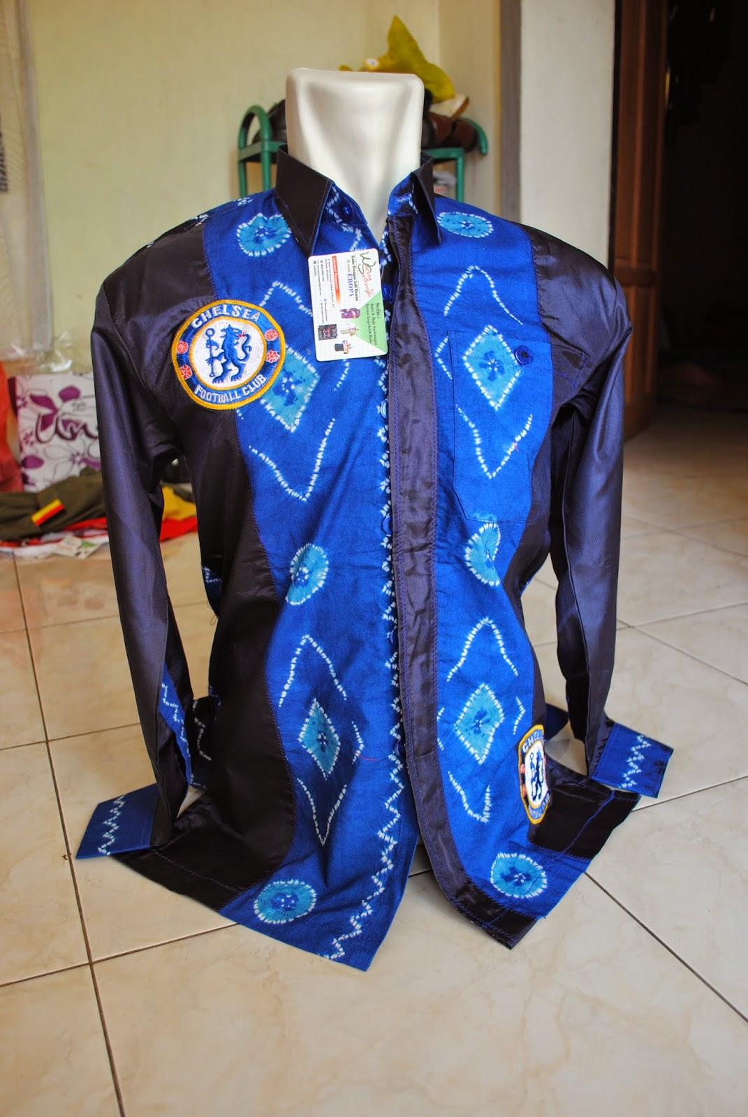 Kemeja Sasirangan Motif Klub Bola Chelsea
