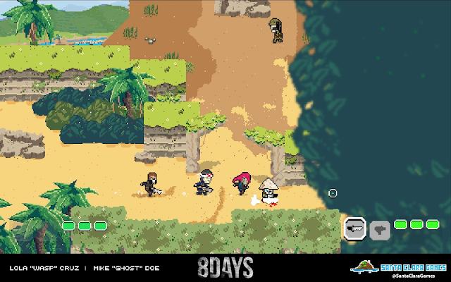 Santa Clara Games presenta 8DAYS, su nuevo shooter pixelado para ordenadores