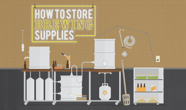Tips For Storing Your Home Brewing Supplies Infographic